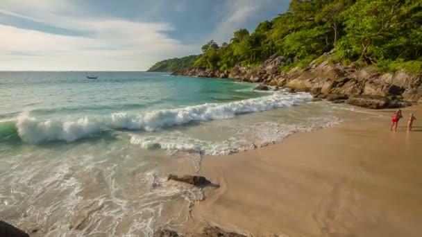 Thajsko letní den phuket slavný svobody plážovým panoramatem hd