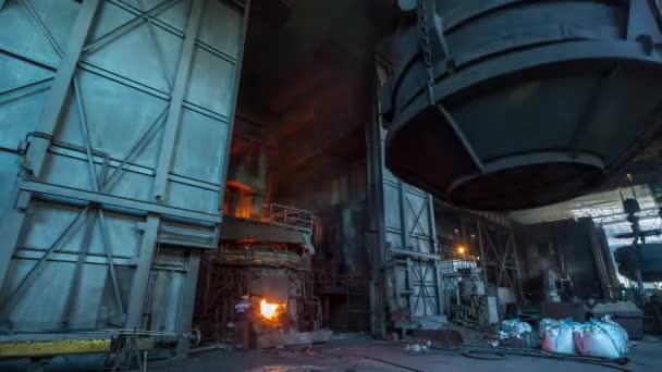 Bělorusko v továrně industriální interiér panorama 4k časová prodleva