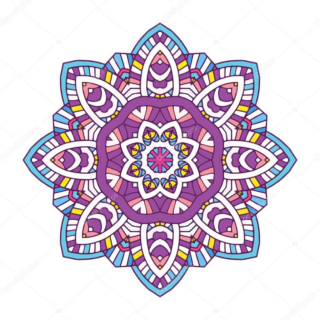 Imágenes Mandalas Florales Mandala De Flores Color Vector De