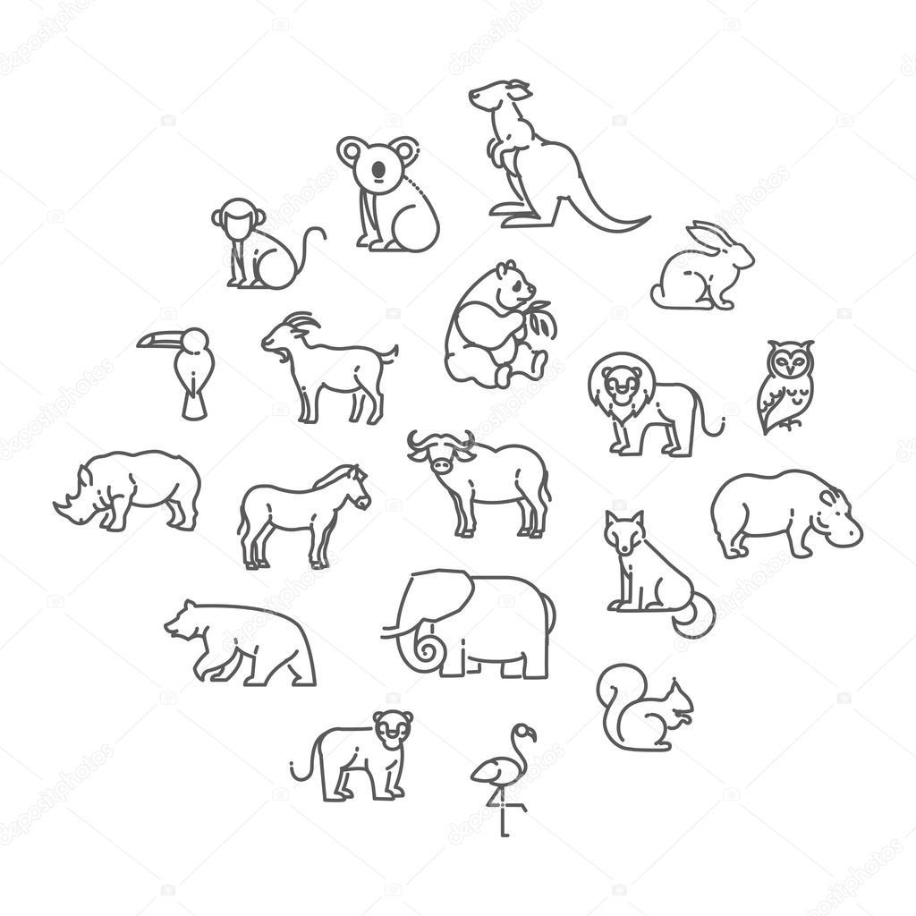 Symbole Tiere