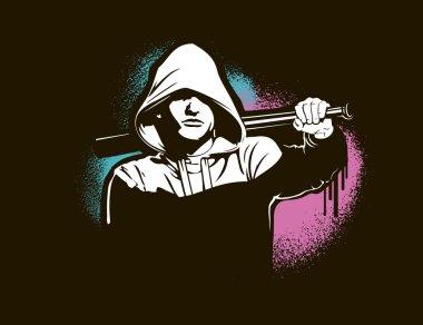 Hooligan - Vector illustration isolated on white