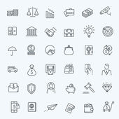 Fotografie Thin line web icon set - money, finance, payments