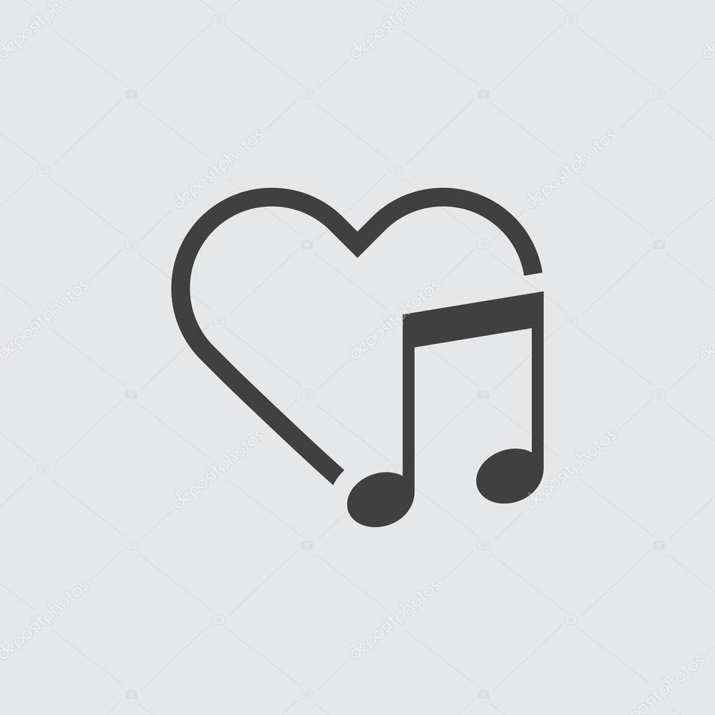 Love music icon isolated — Stock Vector © vector8 #107056402