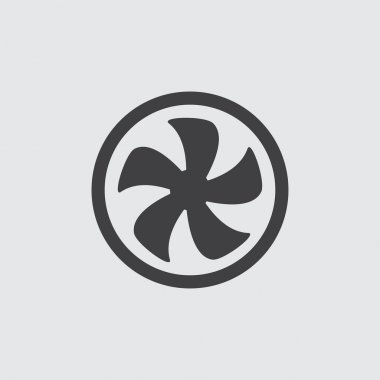 Fan icon, isolated on white background illustration