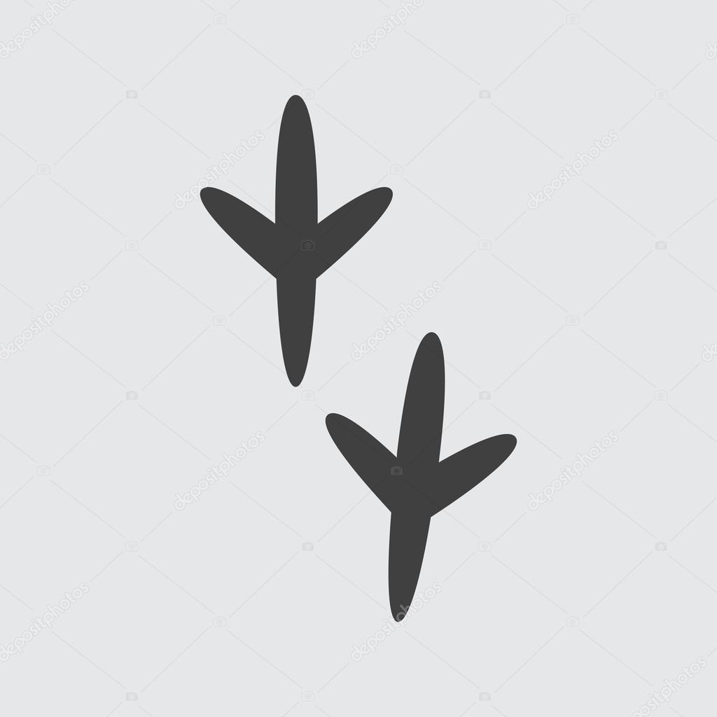 Fußabdruck Vogel
