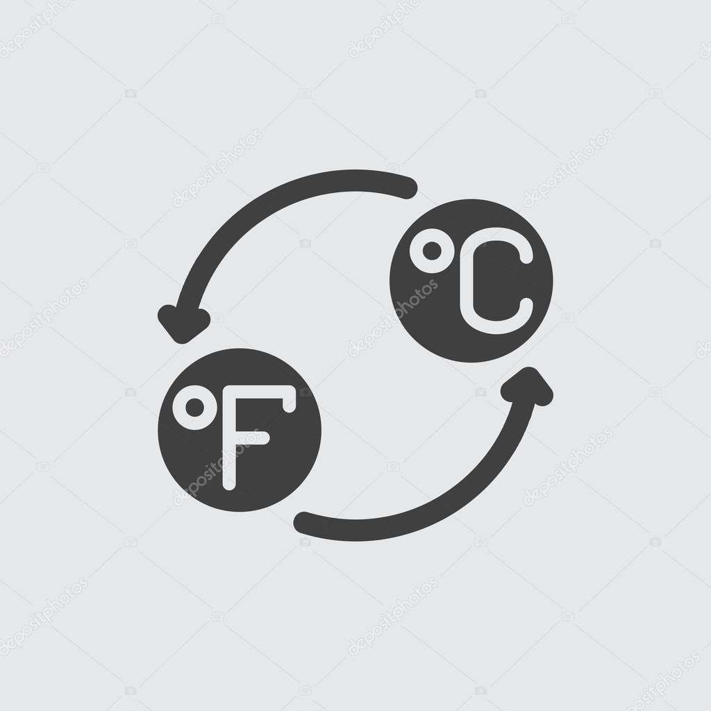 Celsius and fahrenheit icon illustration stock vector vector8 celsius and fahrenheit icon illustration isolated vector sign symbol vector by vector8 biocorpaavc Choice Image