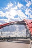 Červený most ve městě Novosibirsk