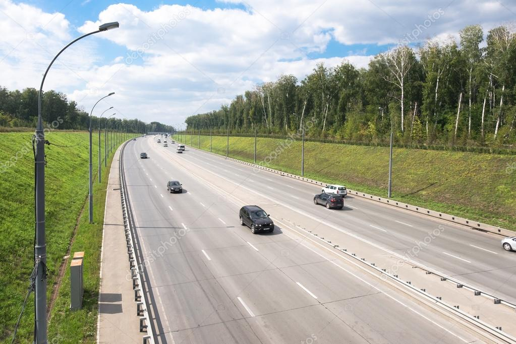 Motorway near Novosibirsk city
