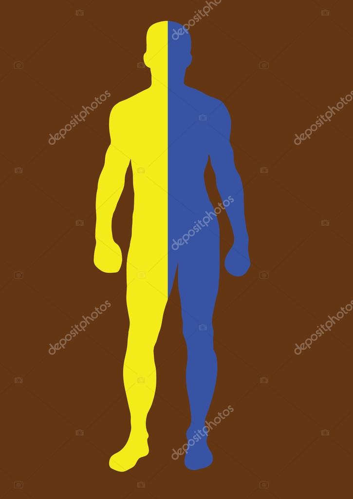 Image result for blue and yellow man