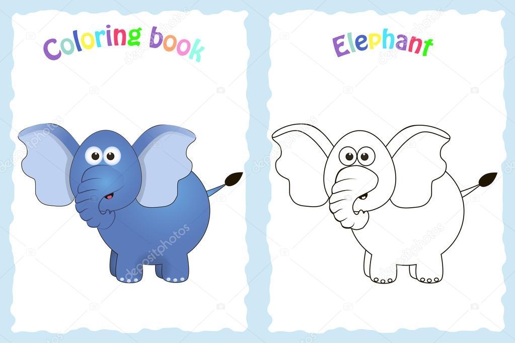 Página de libro para colorear para niños en edad preescolar — Vector ...