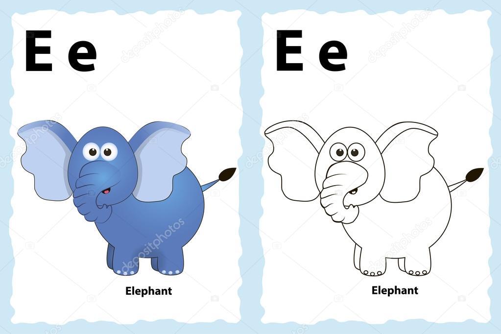 alfabeto para colorear página del libro — Archivo Imágenes ...