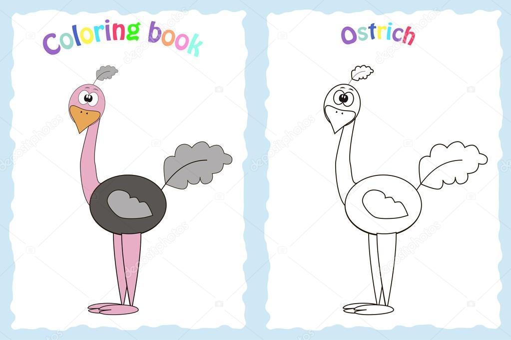 Okul öncesi çocuklar Için Kitap Sayfa Boyama Stok Vektör Budolga