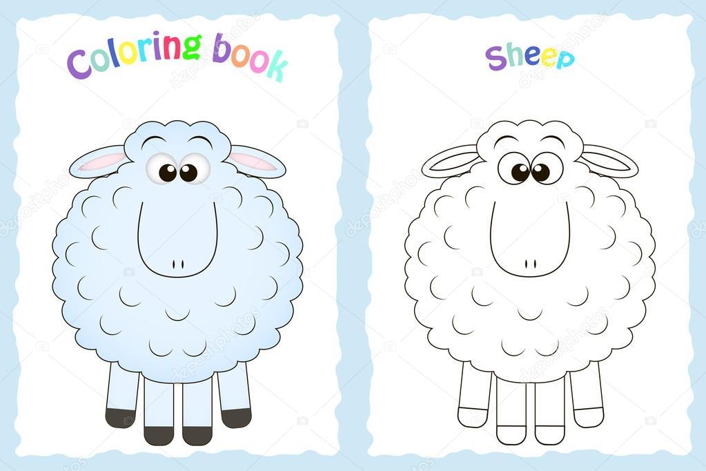 Imágenes: ovejas para niños | Página de libro con ovejas coloridos y ...