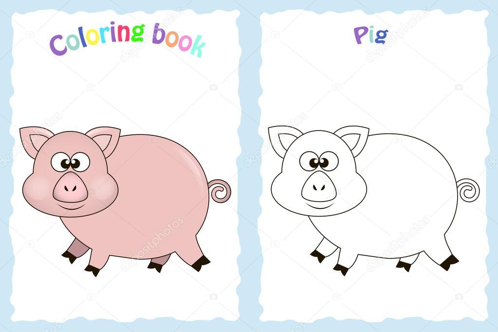 Imagenes Ninos Preescolar Para Colorear Pagina De Libro Para