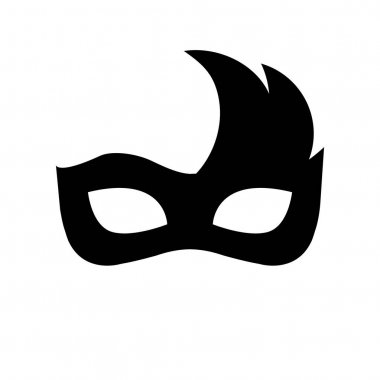 Festive carnival mask silhouette vector illustration isolated on white background. icon