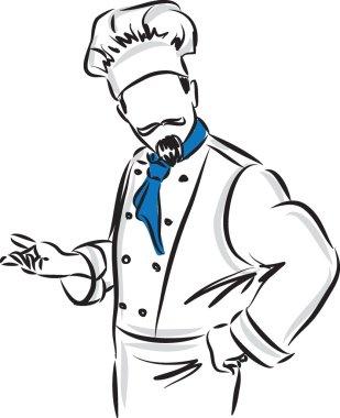 master chef with posture illustration
