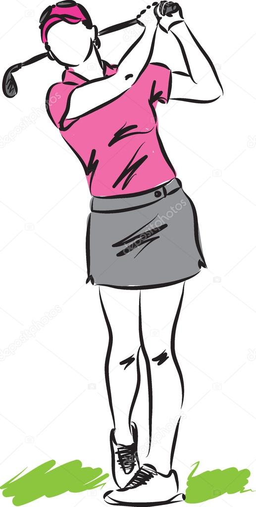 Golfer clipart lady, Golfer lady Transparent FREE for download on  WebStockReview 2020
