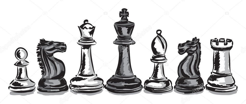 Chess Game Pieces Concept Illustration Stock Vector C Moniqcca