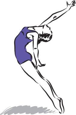 woman dancer illustration ccc