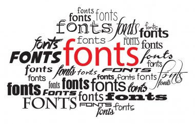fonts lettering concept illustration