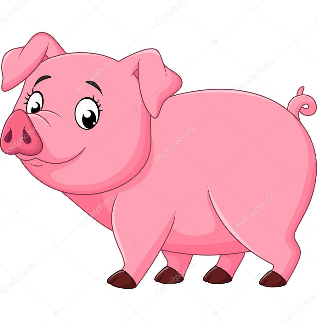 Cartoon happy pig isolated on white background stock vector dreamcreation01 123313042 - Image dessin cochon ...