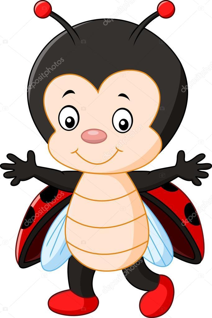 Cute Ladybug Cartoon U2014 Stock Vector