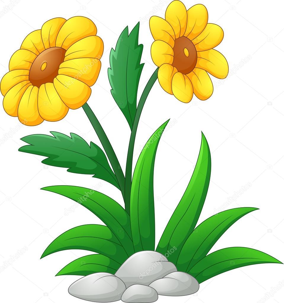 Flower Dibujo: Dibujos Animados De Flor Del Sol