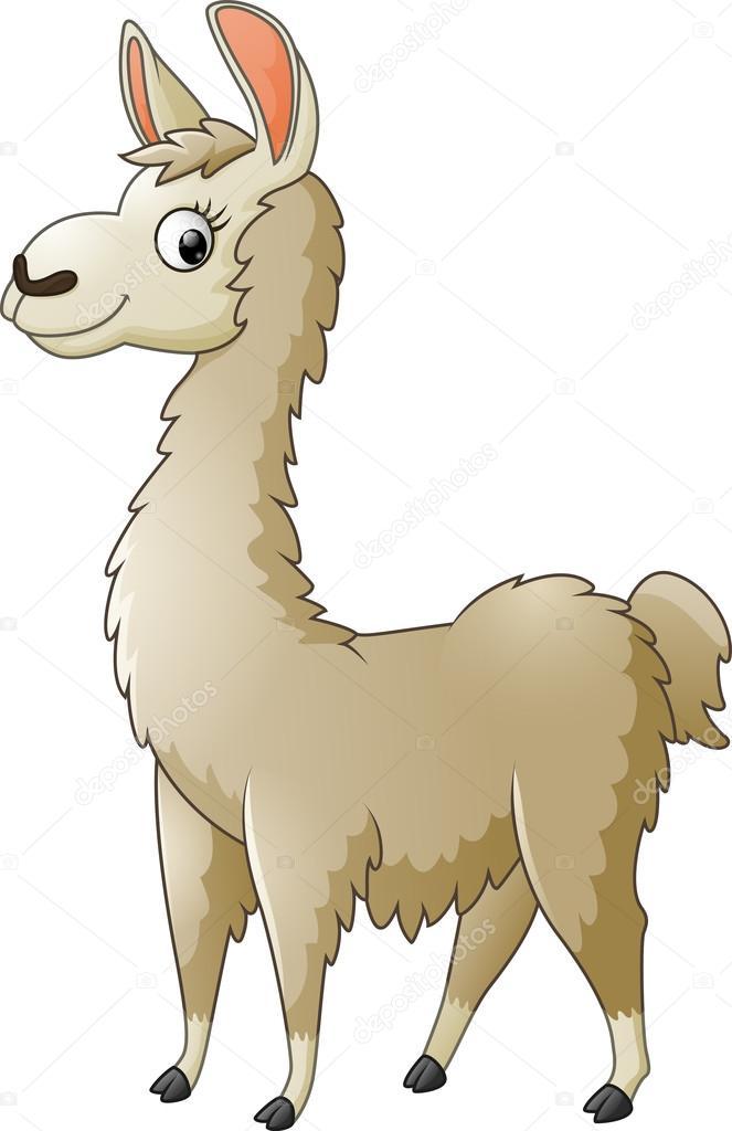 llama cartoon on white background — stock vector © dreamcreation01