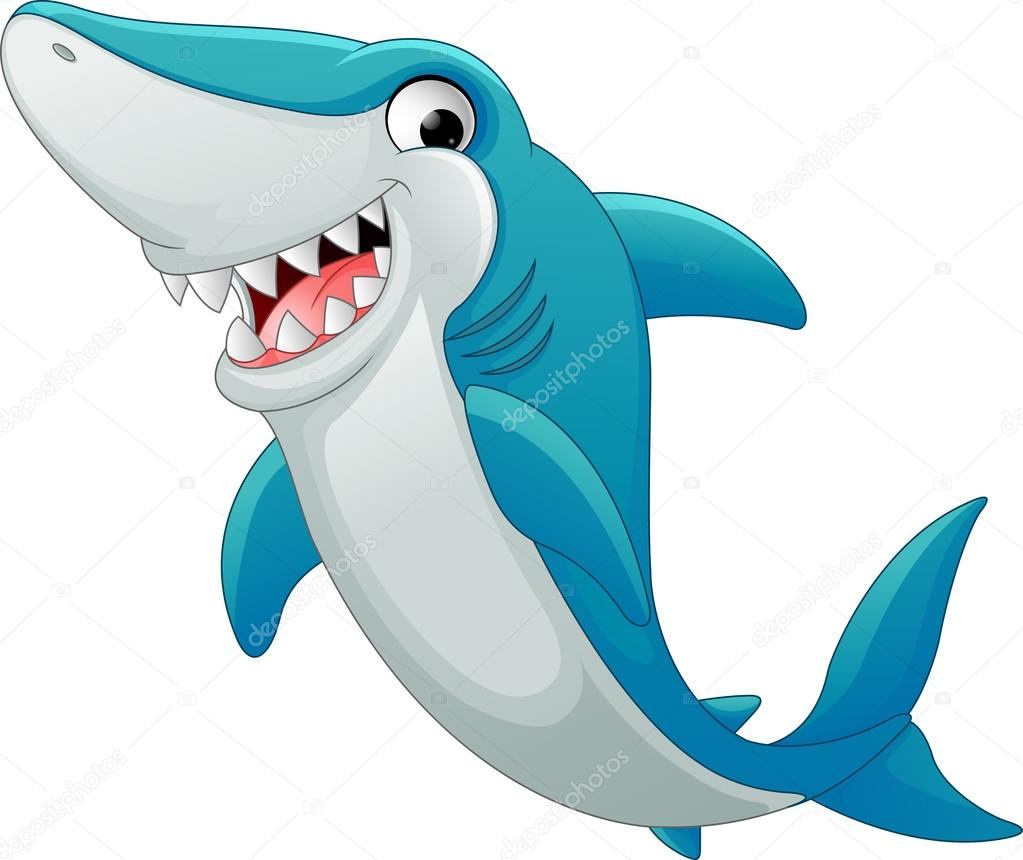 Desenho De Tubarão Feliz