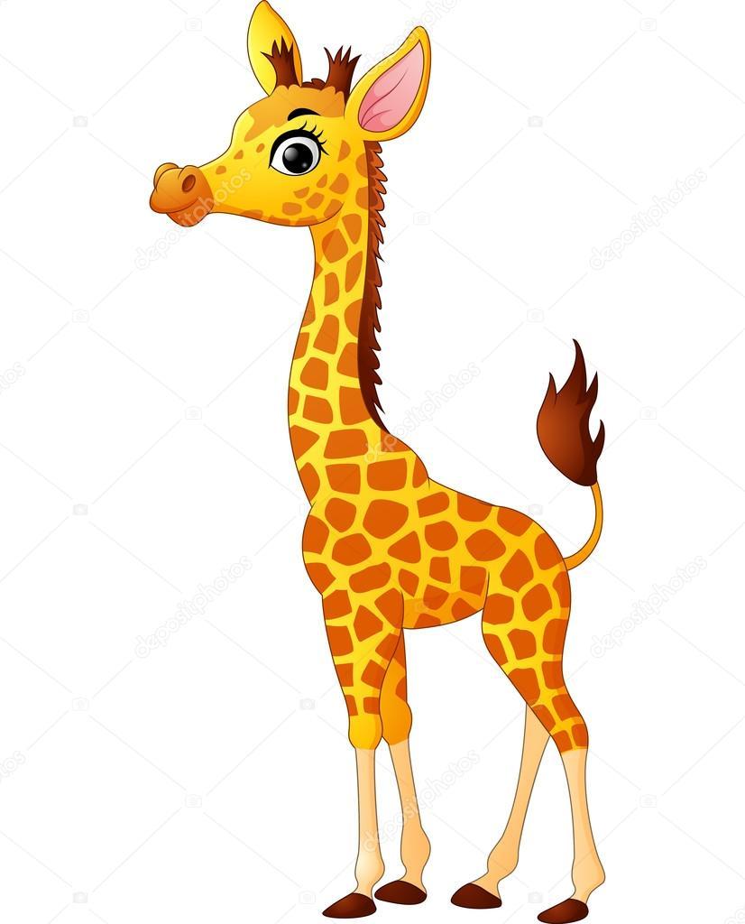 Cartone animato carino giraffa vettoriali stock - Cartone animato giraffe immagini ...