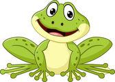 Roztomilý kreslený žába