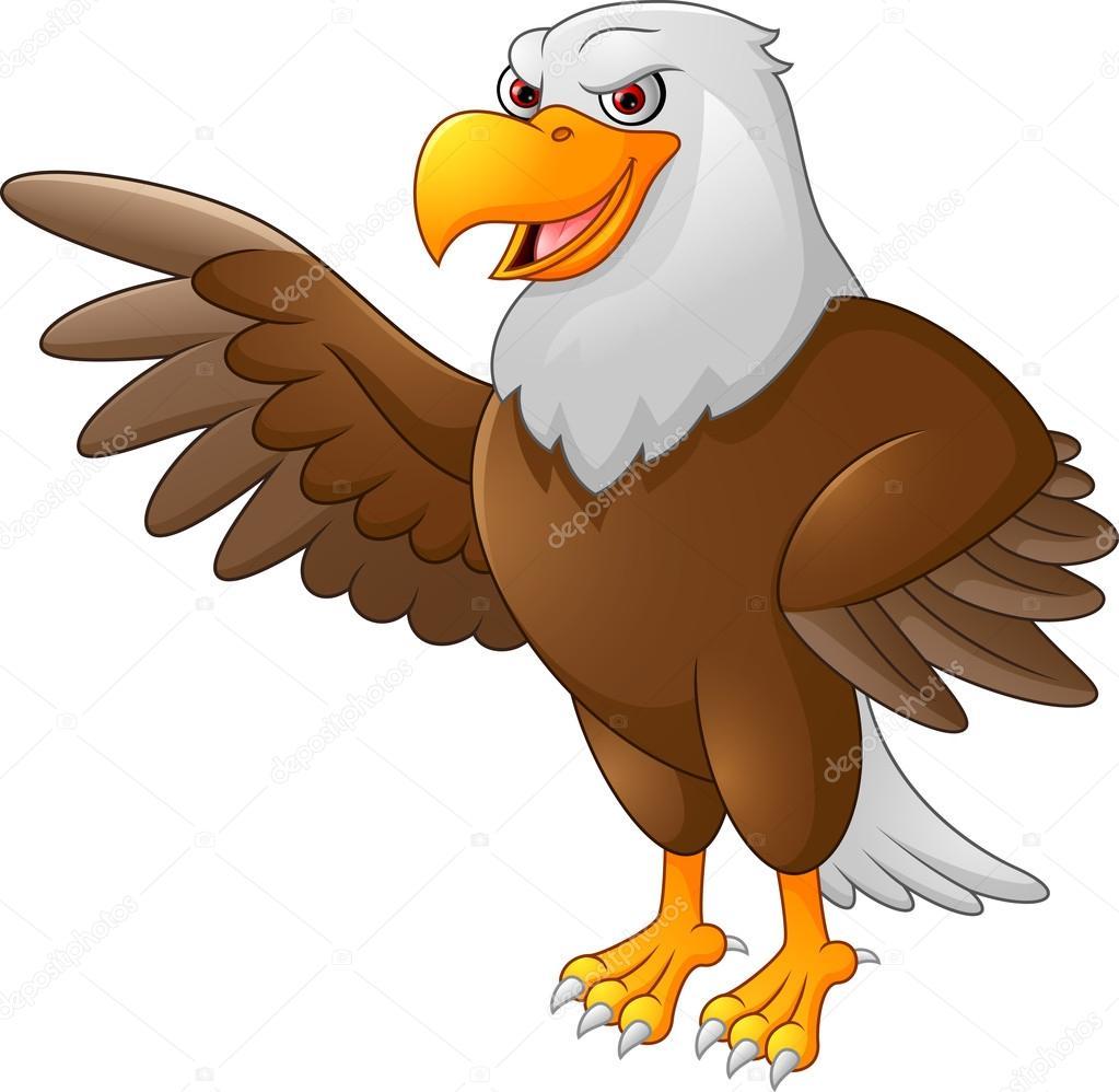 Águila de dibujos animados que agita — Archivo Imágenes Vectoriales ...