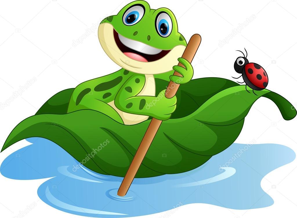 Laisse de pagaie grenouille dessin anim image vectorielle dreamcreation01 123549156 - Dessin de grenouille a imprimer ...
