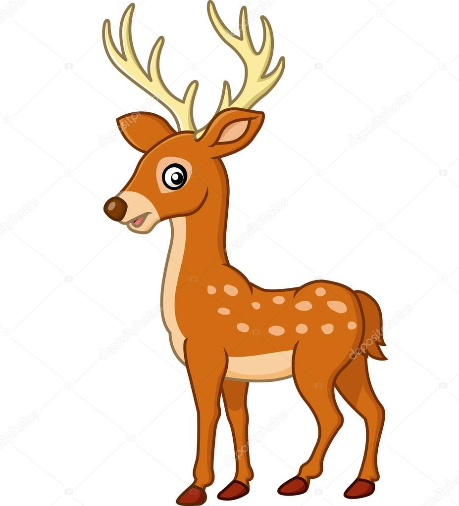 Cute Deer Cartoon Stock Vector C Dreamcreation01 123556408