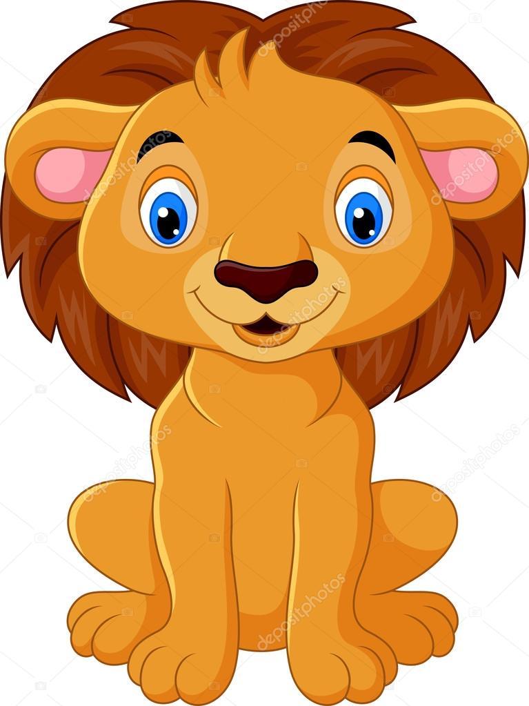 ライオンの漫画のキャラクター ストックベクター dreamcreation01