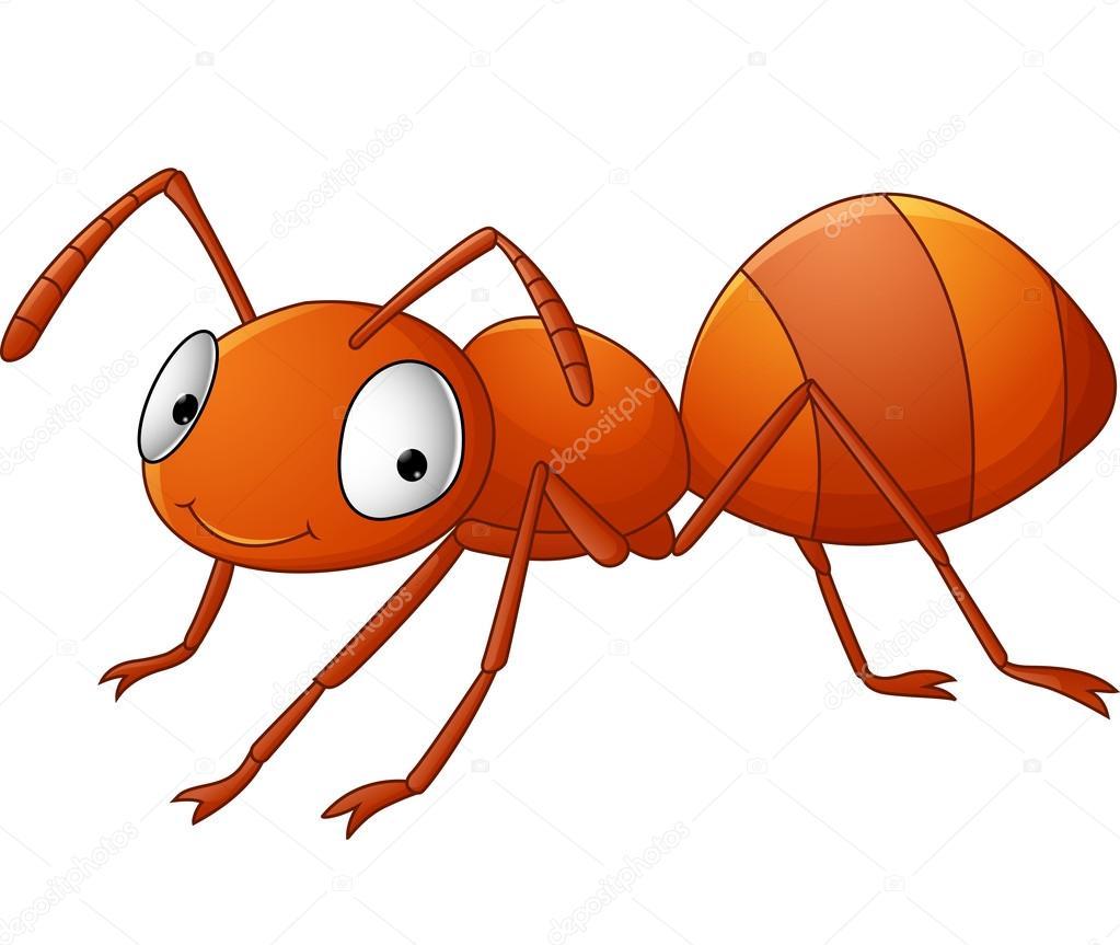 Cute ant cartoon — Stock Vector © dreamcreation01 #123566424
