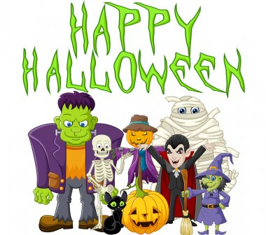 Halloween background with zombie