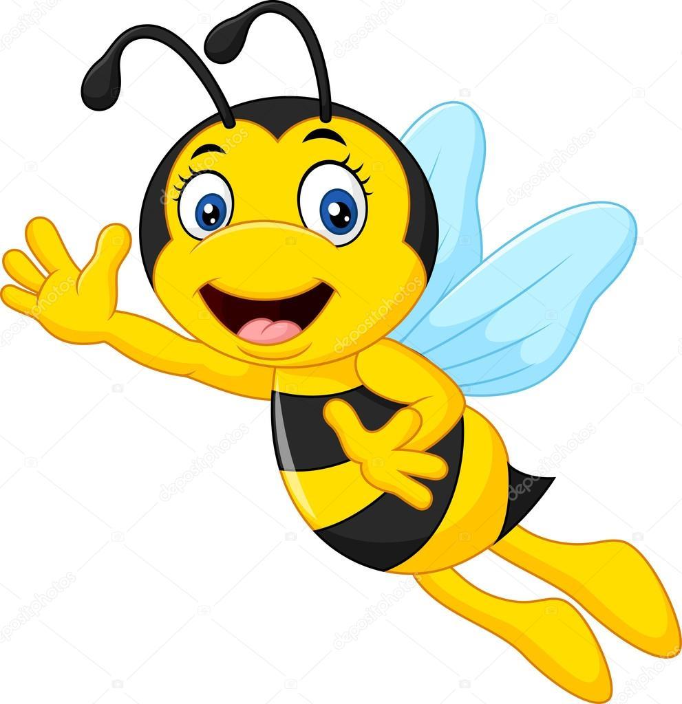 Cartoon Bee Waving Hand Stock Vector C Dreamcreation01 123663840