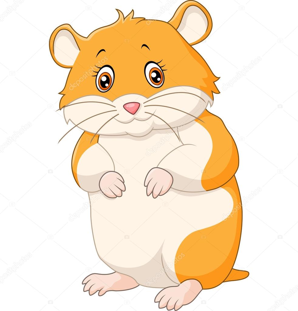 Stock Illustration Cute Hamster Cartoon