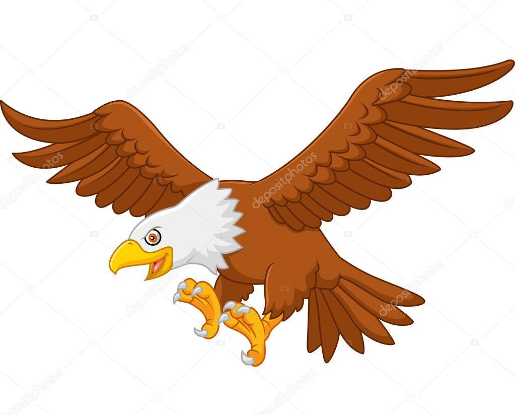 Águila de la historieta volando — Archivo Imágenes Vectoriales ...