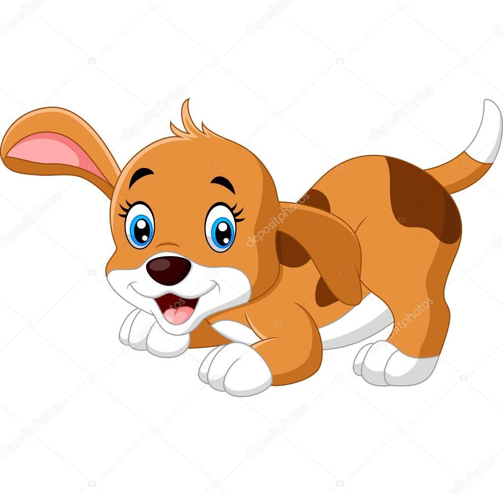 Animado Perro Dibujo Mono Pequeño Perro De Dibujos Animados