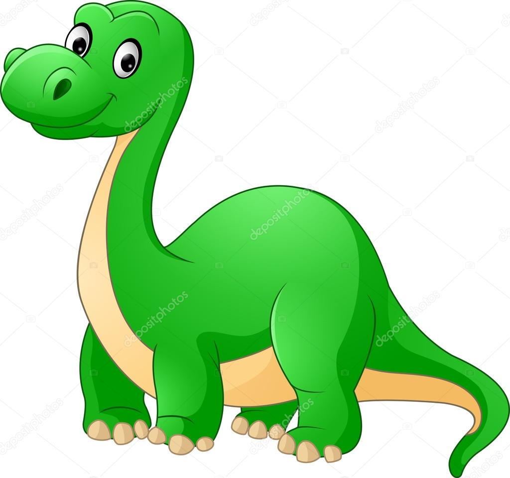Stock Illustration Cartoon Cute Dinosaur