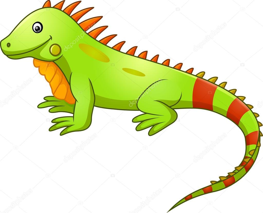Dibujos Dibujo Iguana Caricatura Lindo Iguana Vector De Stock