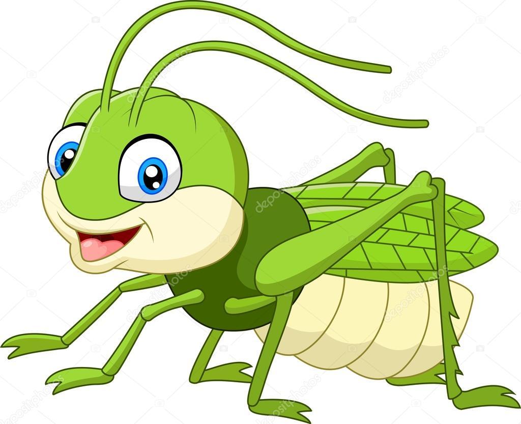 Cute grasshopper cartoon stock vector dreamcreation01 - Sauterelle dessin ...