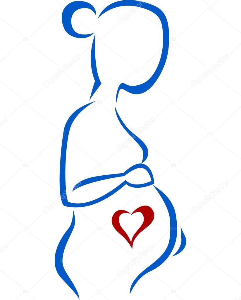 Pregnant Woman Symbol Stock Vector Dreamcreation01 123698982