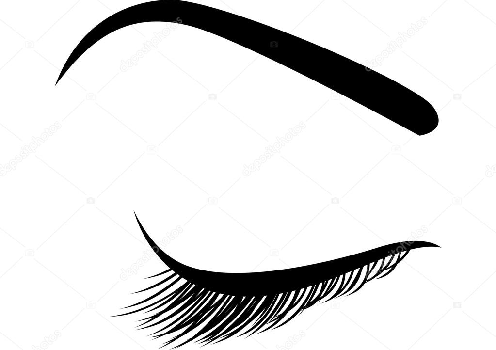 Stock Illustration Beautiful Closed Eye With Long on 4127