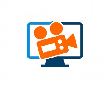 Media television with video recorder icon