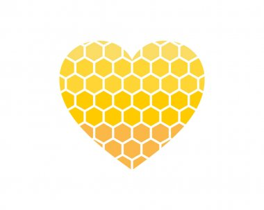 Beehive with love shape logo icon