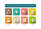 Corporate Social Responsibility Icons Set