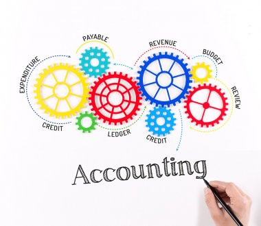 Gears and Mechanisms with text Accounting